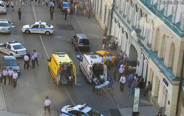 Taxi hits pedestrians near Moscow's Red Square, injuring 8