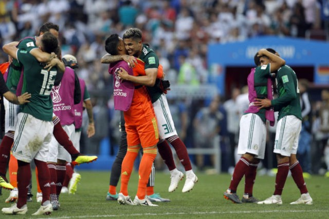 The Latest: All of Mexico cheers win over champ Germany