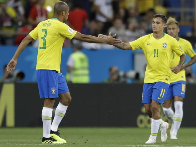 The Latest: Brazil leads 1-0 at halftime against Switzerland