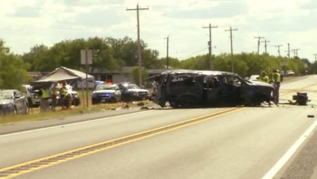 5 dead as SUV being chased crashes in South Texas