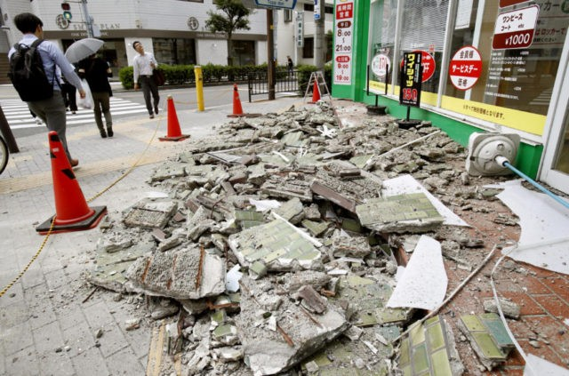 Strong quake near Osaka, Japan, kills 3, knocks over walls