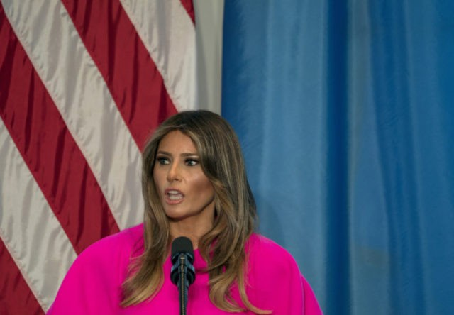 "First lady Melania Trump ""hates"" to see families separated"