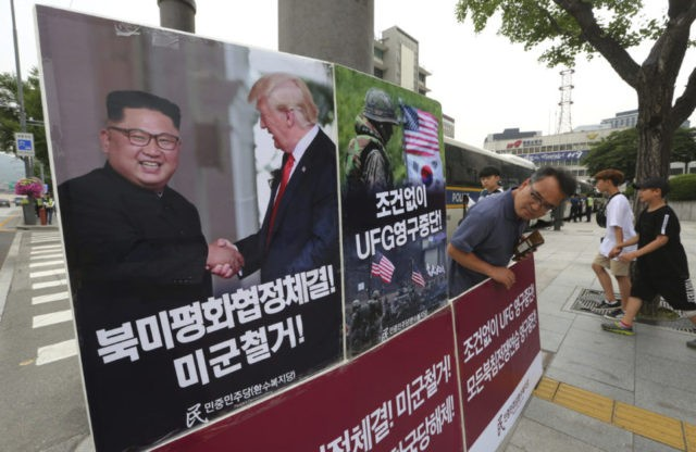 S. Korea: Joint US drills suspended to aid talks with North