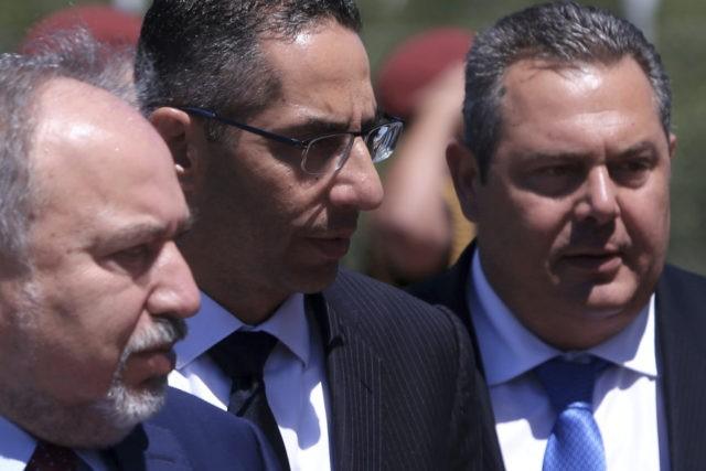Avigdor Lieberman, Savvas Angelides, Panos Kammenos