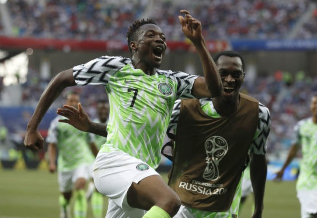 The Latest: Nigeria still in contention with win vs Iceland