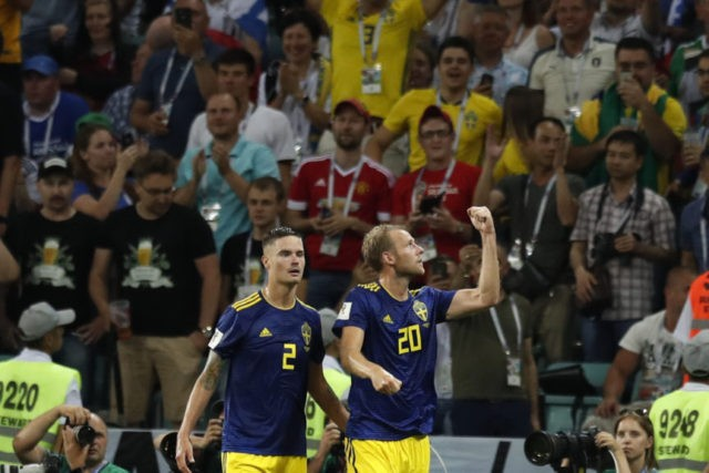 The Latest: Germany in trouble against Sweden at World Cup