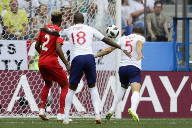 The Latest: Stones' header gives England 1-0 lead v Panama