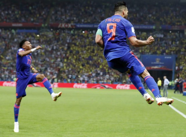Falcao scores, Colombia beats Poland 2-1 at World Cup
