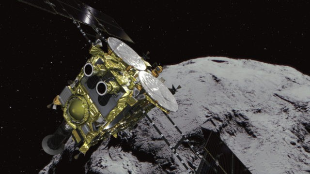 Japan space explorer arrives at asteroid to collect samples