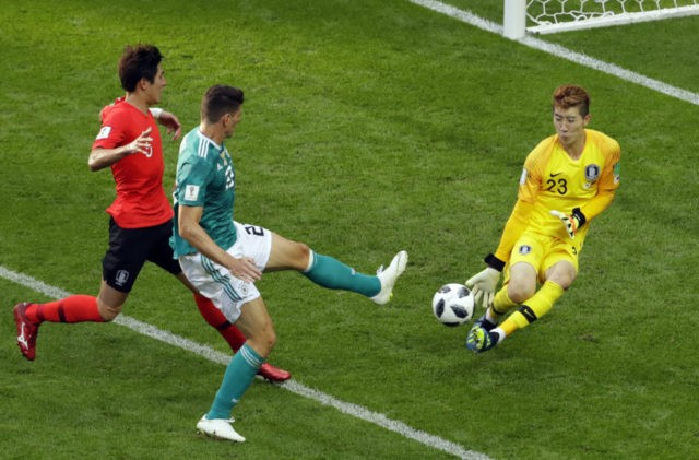 The Latest: Germany out, Sweden, Mexico advance from Group F