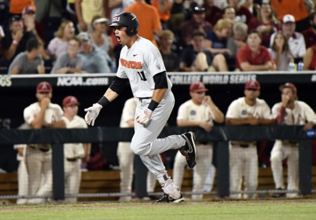 Oregon St. wins 5-3 to force Game 3; Hogs crying over foul