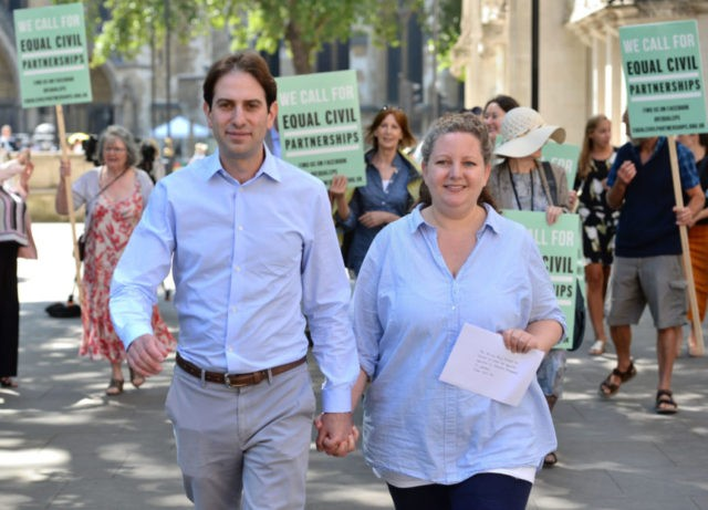 UK couple wins court ruling in fight for civil partnership