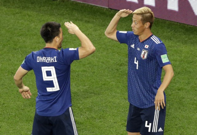 The Latest: Okazaki in among 6 changes for Japan vs Poland
