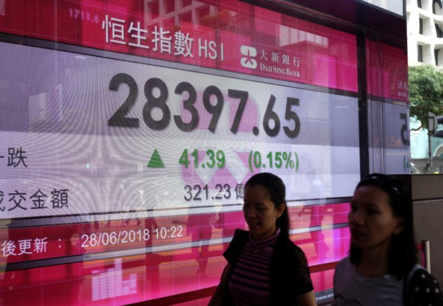 Stocks mixed as investors keep eyes on US-China tensions