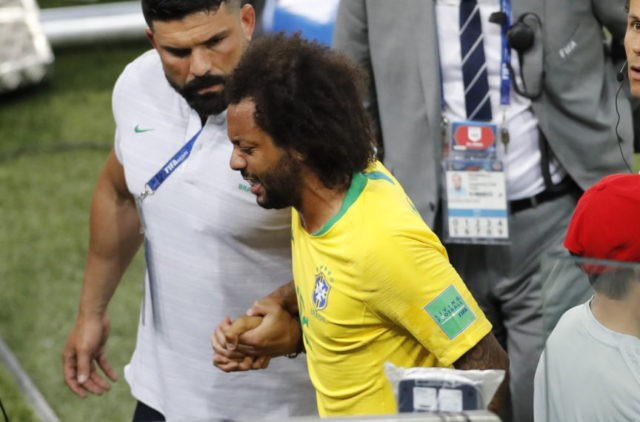 The Latest: Soft mattress contributes to Marcelo's injury