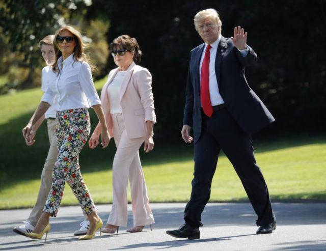Donald Trump, Melania Trump, Barron Trump, Amalija Knavs,