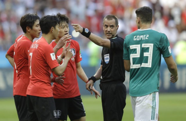 The Latest: Referees mellow on yellow cards for VAR appeals