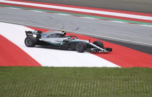 Bottas edges Hamilton as Mercedes takes front row in Austria