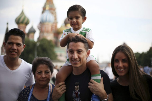 The Latest: Mexico players, coach go sightseeing in Moscow