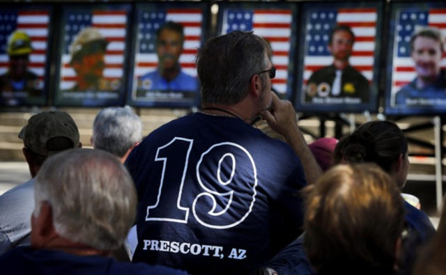 Arizona honors 19 firefighters killed by flames 5 years ago
