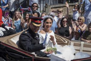 Prince Harry, Meghan Markle attend Trooping the Color event in London