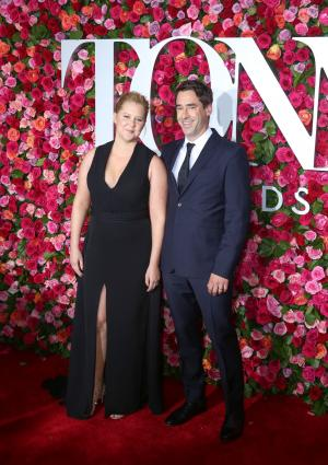Amy Schumer, Chris Fischer make red carpet debut at Tonys 2018