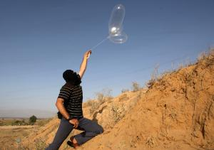 Israel responds to burning kites, balloons with rocket fire in Gaza