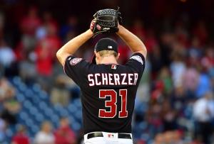 Nationals' Max Scherzer throws curveball into umpire's shirt