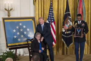 Trump awards posthumous Medal of Honor to 'patriotic' WWII vet