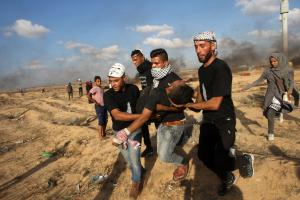 Protests at Gaza border leave two Palestinians dead