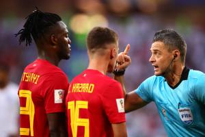 World Cup: Belgium's Batshuayi blasts himself in face with ball during celebration
