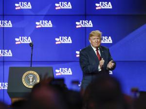 Watch live: Trump hails sweeping tax overhaul at anniversary event