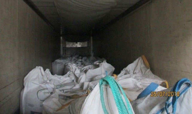 Falfurrias Border Patrol Checkpoint agents discovered 25 illegal aliens being smuggled in the back of a tractor-trailer in South Texas. (Photo: U.S. Border Patrol/Rio Grande Valley Sector)