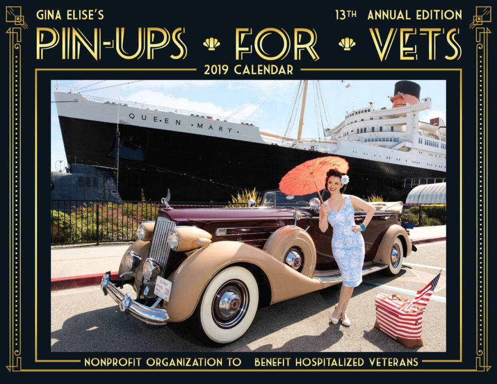 Gina Elise, founder of Pin-Ups for Vets, on 2019 calendar (Courtesy of Pin-Ups for Vets).
