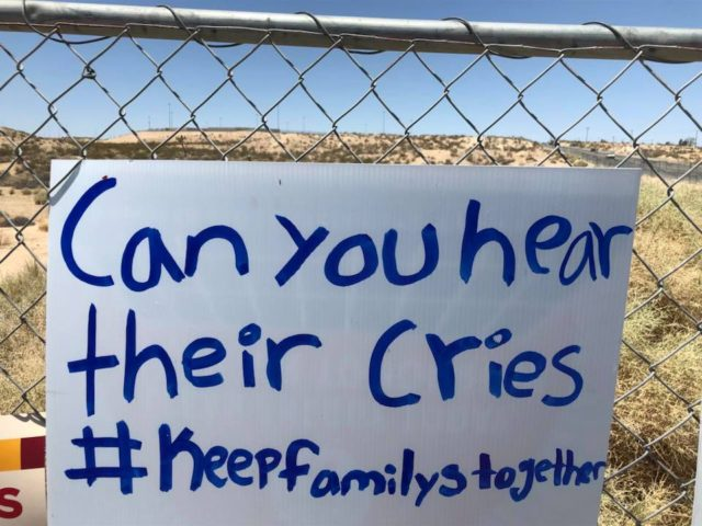 Victorville prison protest sign (Lisa Portiss / Facebook)