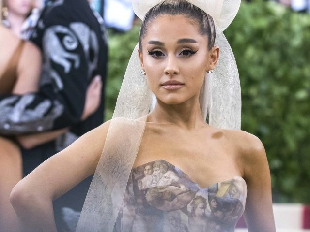 Ariana Grande attends The Metropolitan Museum of Art's Costume Institute benefit gala celebrating the opening of the Heavenly Bodies: Fashion and the Catholic Imagination exhibition on Monday, May 7, 2018, in New York. (Photo by Charles Sykes/Invision/AP)