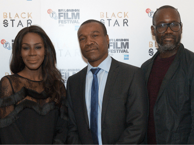 (L-R) Ben Roberts, Amma Asante, Tunde Ogungbesan, Ije Nwokorie and Gaylene Gould pose at the 'Black Star' symposium during the BFI London Film Festival in London on October 6, 2016.