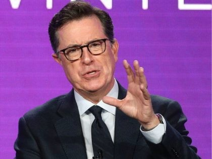 Executive producer Stephen Colbert of the television show Our Cartoon President speaks onstage during the CBS/Showtime portion of the 2018 Winter Television Critics Association Press Tour at The Langham Huntington, Pasadena on January 6, 2018 in Pasadena, California. (Photo by Frederick M. Brown/Getty Images)