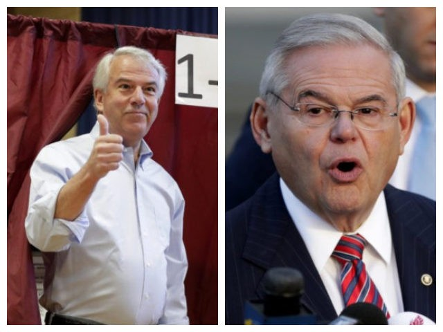 Collage of Bob Hugin and Bob Menendez