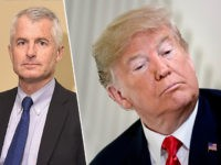 CNN analyst Philip Mudd (L) and President Donald Trump (R).