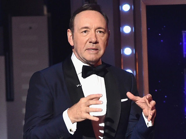 NEW YORK, NY - JUNE 11: Host Kevin Spacey speaks onstage during the 2017 Tony Awards at Radio City Music Hall on June 11, 2017 in New York City. (Photo by Theo Wargo/Getty Images for Tony Awards Productions)