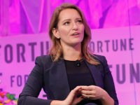 WASHINGTON, DC - OCTOBER 11: MSNBC Anchor and NBC News Correspondent Katy Tur speaks onstage at the Fortune Most Powerful Women Summit - Day 3 on October 11, 2017 in Washington, DC. (Photo by Paul Morigi/Getty Images for Fortune)