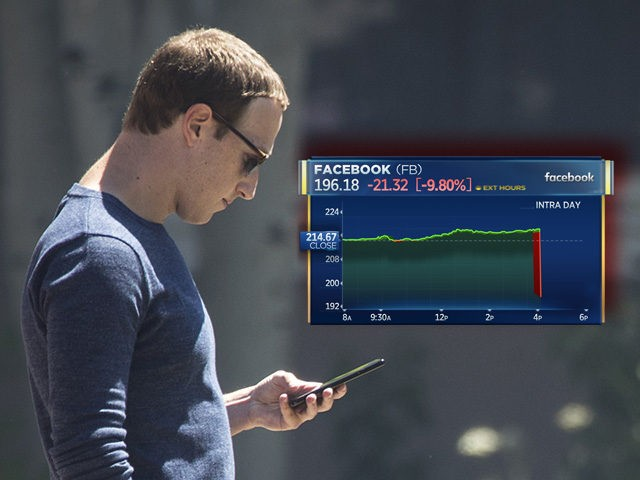 Facebook stock plunges more than 20 percent