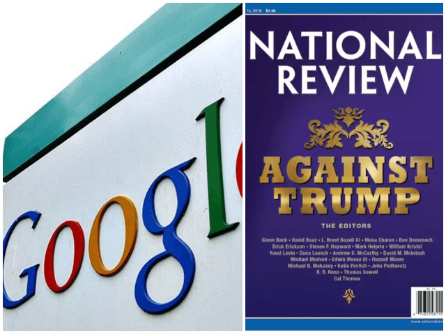 Google HQ, National Review cover story