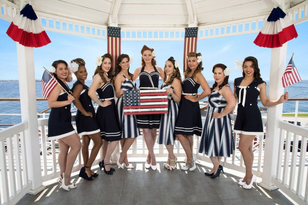 Female veterans pose aboard the Grey Ghost (Courtesy of Pin-Ups for Vets).