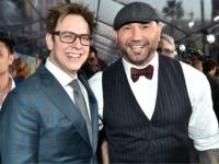 Director James Gunn (L) and actor Dave Bautista at the premiere of Disney and Marvel's 'Guardians Of The Galaxy Vol. 2' at Dolby Theatre on April 19, 2017 in Hollywood, California. (Photo by Frazer Harrison/Getty Images)