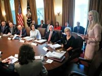 Ivanka Trump Takes Center Stage in Presidential Cabinet Meeting
