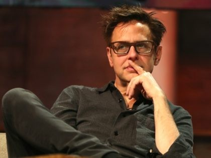 Film director James Gunn attends a keynote discussion about building worlds across entertainment mediums during the Electronic Entertainment Expo E3 coliseum at the Novo LA Live on June 13, 2017 in Los Angeles, California. (Photo by Christian Petersen/Getty Images)
