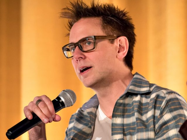 Writer James Gunn attends the Marvel's Guardians of the Galaxy Q&A session at The Plaza Theatre on April 10, 2016 in Atlanta, Georgia. (Photo by Marcus Ingram/Getty Images for Allied Integrated Marketing)