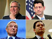 Jeb!, Ryan, Rubio, Soros split